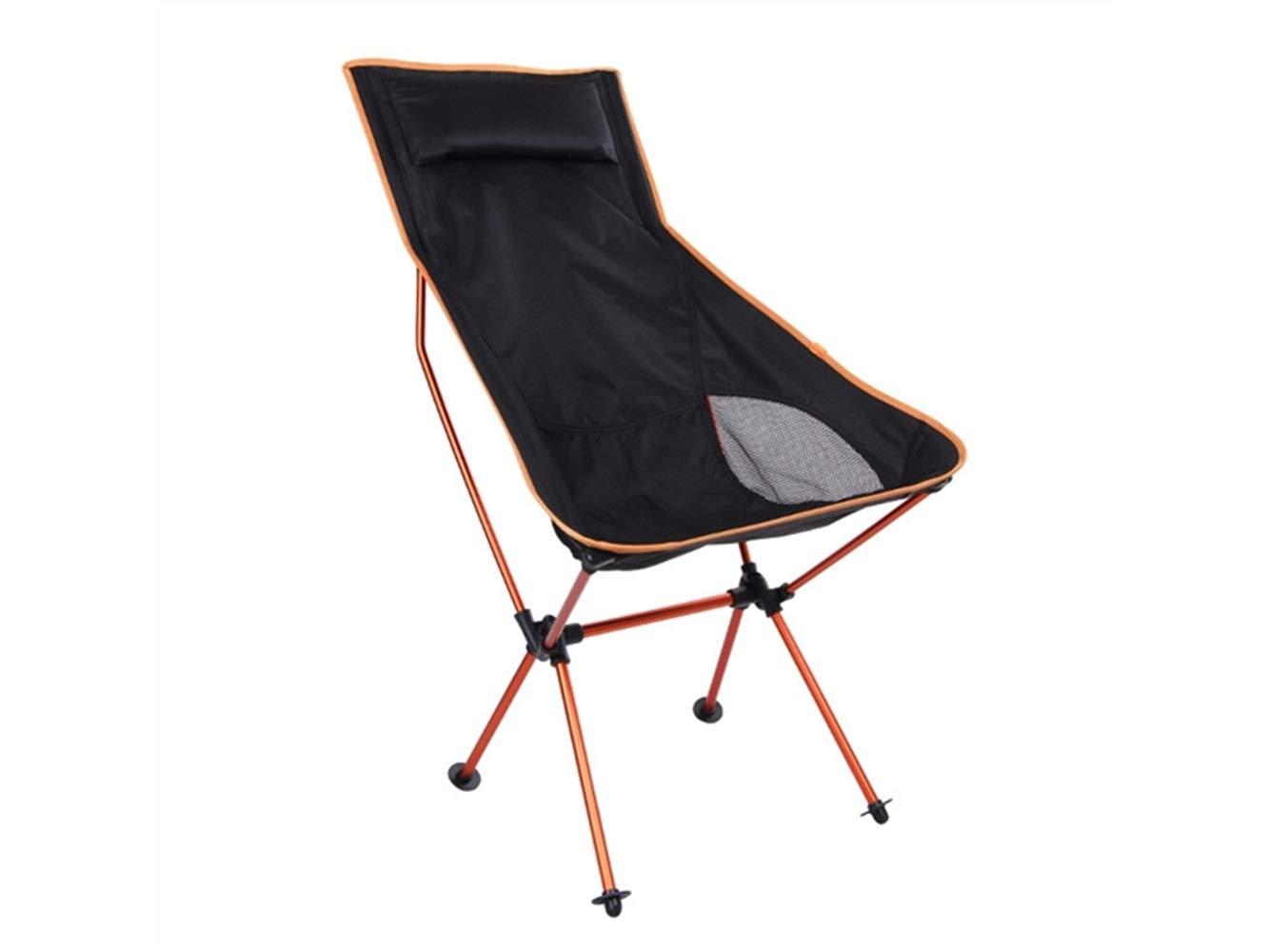 LMKIJN Bequemer Stuhl Outdoor-Klapp Angeln Stuhl Liege Camping Stuhl Strand Liege für Camping und Angeln (Orange) für den Urlaub