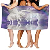 KTMB Pegasus Unicorn Light Lake Legend Animal Magical Landscape Beast Washable Extra Large Bath Beach Towel Soft Personality Towel