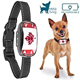 GoodBoy Small Dog Bark Collar For Tiny To Medium Dogs by GoodBoy Rechargeable and Waterproof Vibrating Anti Bark Training Device That is Smallest & Most Safe On Amazon - No Shock No Spiky Prongs (3+kg) (Red)