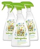 Babyganics Multi Surface Cleaner, Fragrance Free, 32oz Spray Bottle (Pack of 3)