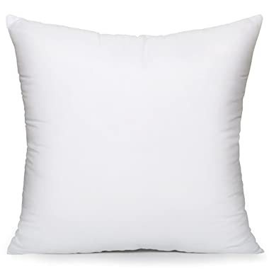 ALL SIZES - MoonRest - 18 X 18 New Pillow Insert Form Hypo-allergenic - Made in USA