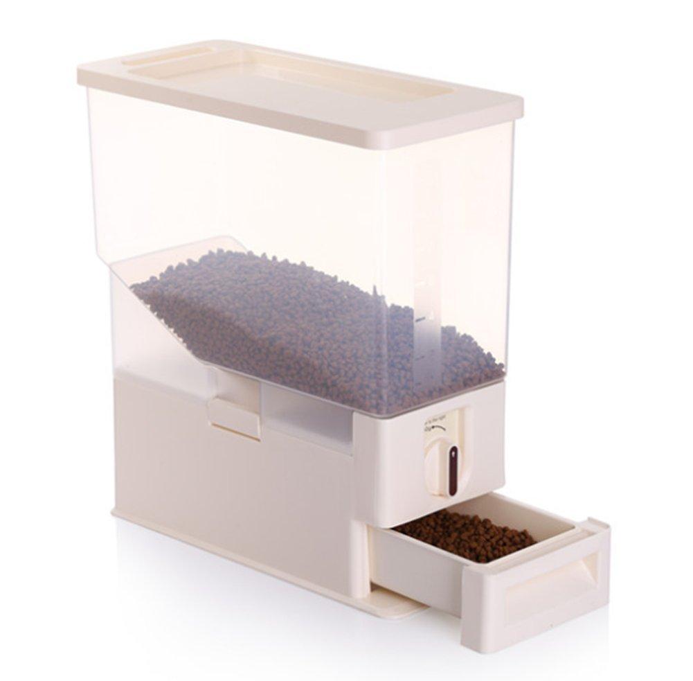 Tossi Pet Dog Cat Animal Dry Food Storage Container Clip & Close Box Bin Wild Bird Seeds 6KG Transparent