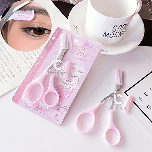 icycheer Pro mujeres ceja Trimmer pelo tijeras cortador Remover herramienta de maquillaje de pestañas peine Ever.Grace