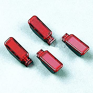 BoCID 4Pcs OE Red Door Panel Warning Light For AUDI A3 S3 A4