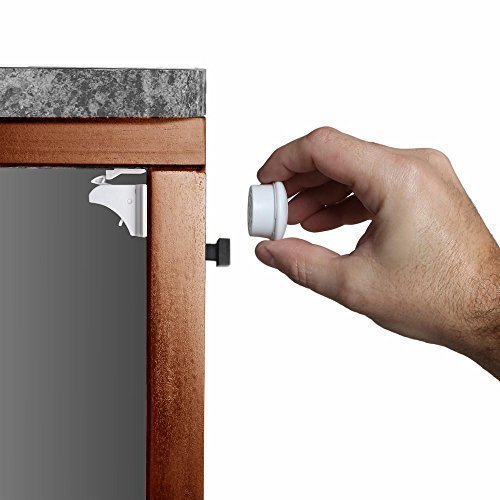 Child Safety Magnetic Cabinet Locks(20 Locks + 3 Keys), Baby Proof, No Tools Or Screws Needed - Upala
