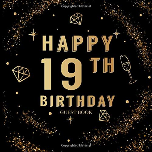 Happy 19th Birthday Guestbook: Nineteenth Birthday Party