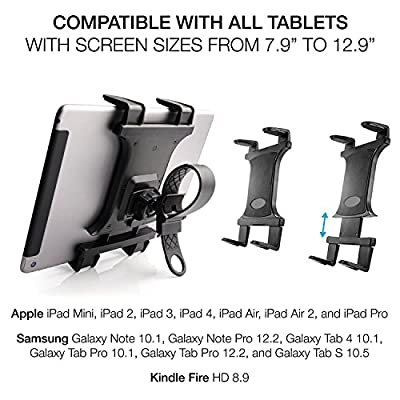 Tablet Mount Holder for Spin Bike - [Zip Tight] TACKFORM Universal Tablet Holder for Treadmill, Elliptical, Spinning, Exercise Bike Mount Holder for iPad, iPad Pro, iPad Mini, 2, 3, iPad Air