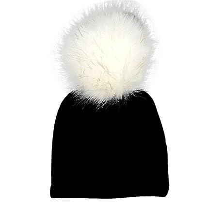 Amazon.com  Jinjiu Newborn Infant Baby Winter Warm Solid Hats Faux ... 427c56a011c6