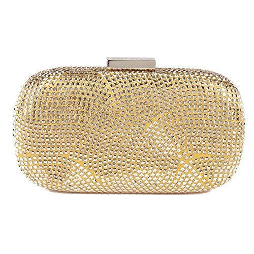 Clutch-tasche, Nives Gold, Stoff