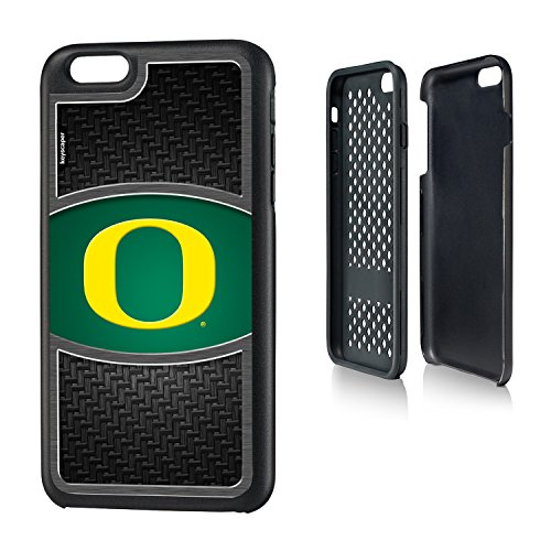 6 Plus & iPhone 6s Plus Rugged Case officially licensed by the University of Oregon for the Apple iPhone 6 Plus by keyscaper® Durable Two Layer Protection Shock Absorbing ()