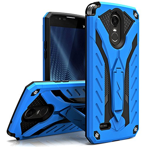 Zizo Static Series Compatible with LG Stylo 3 Case Military Grade Drop Tested with Built in Kickstand LG Stylo 3 Plus Blue Black
