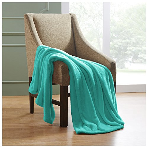 "Superior Ultra-Plush Fleece Blankets, Thick, Cozy, and Warm Premium Quality Fleece, Velvety Soft Bed Blankets and Throws - 50"" x 60"" Throw Blanket, Turquoise"