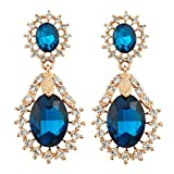 Silver Shoppee Dazzling You 22K Rose Gold Plated Crystal and Cubic Zirconia Studded Alloy Earrings for Girls and Women