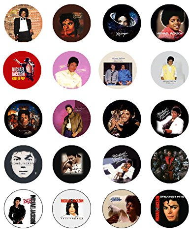 20 Pcs Michael Jackson Pinback Button ()