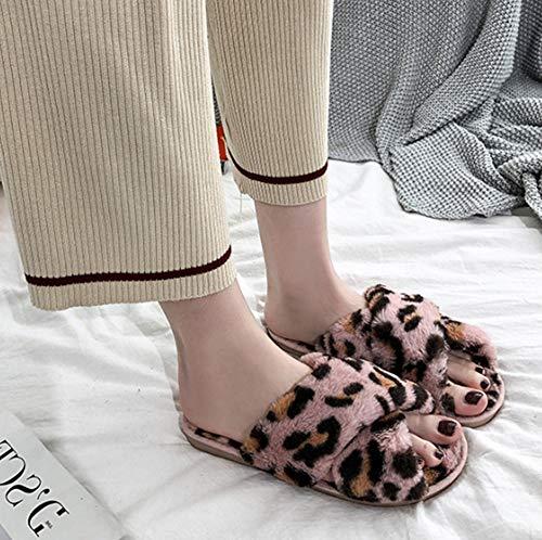 GFLD Zapatillas de Estar por casa otoño Invierno Dama Furry ...