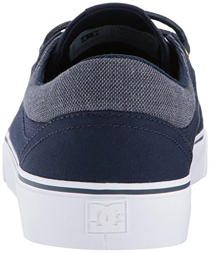 DC Men's Trase TX SE Skate Shoe, Navy/Gold, 7 D US