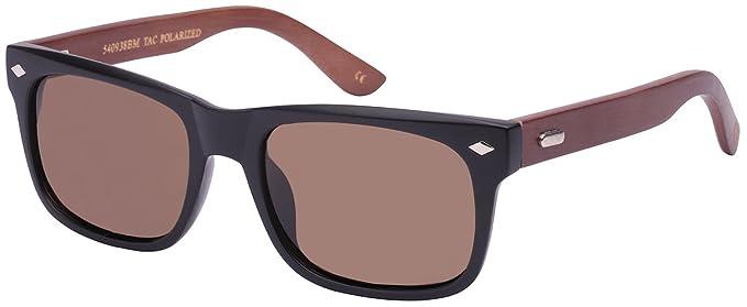 5bd48226e0 Edge I-Wear Retro Horned Rim Style Bamboo Sunglasses Polarized Lenses  540938BM-P-