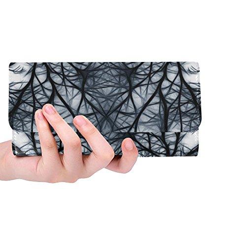 (Unique Custom Network Wattle Mesh Yarn Tissue Mesh Factory Women Trifold Wallet Long Purse Credit Card Holder Case Handbag)