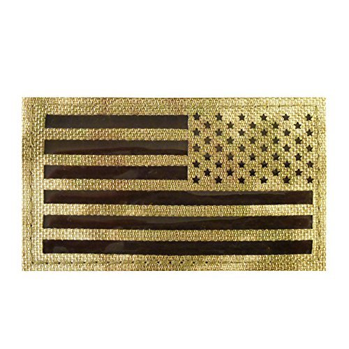 LEGEEON Infrared IR Multicam Reversed USA Flag IFF Morale Tactical Cordura Combat Fastener Patch