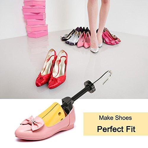 Halcent 1 Paire Embauchoirs Plastique avec Métal Arbre de Chaussure avec Chausse-Pied Embauchoir Homme Femme 6