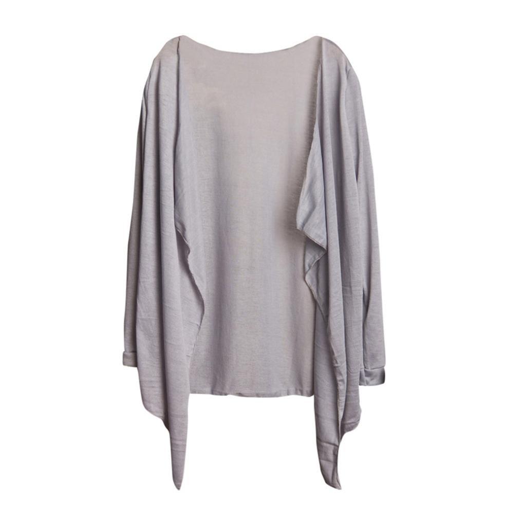 WuyiMC Open Front Long Cardigans, Women's Sunscreen Long Thin Cardigan T-Shirt Tops Casual Coat Blouse (One Size, J#)