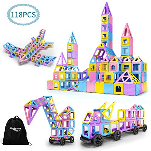 Magnetic Blocks-Magnetic Blocks Building Set for Kids-118 PCS