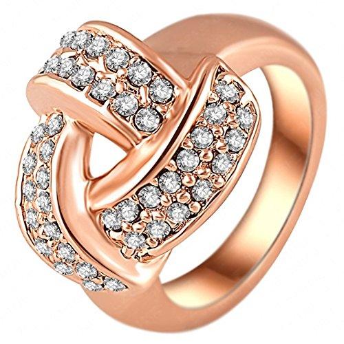 [RI06055C1-7 Unique Austrian Crystal 18K Ring] (Gimli Costumes)