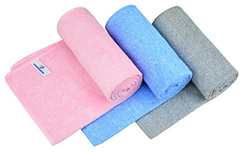 (HOPESHINE Premium Gym Towels for Women & Men Microfiber Sports Hand Towels for Fitness, Workout, Exercise,Yoga Sweat Towels Fast Drying Face Towels 3-Pack, 33-1/2 inch X 14 inch)