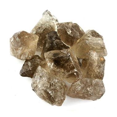 Crystal Allies Materials: 1lb Bulk Rough Smoky Quartz Stones - Large 1  Raw Natural Crystals for Cabbing, Cutting, Lapidary, Tumbling, and Polishing & Reiki Crystal Healing *Wholesale Lot*