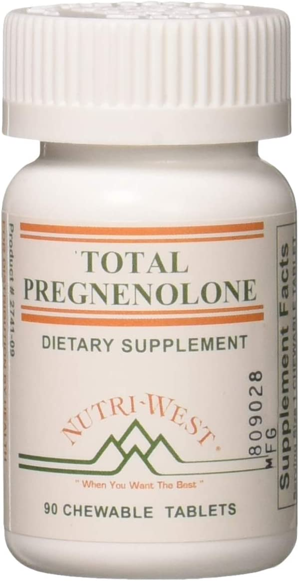Nutri West Total Pregnenolone – 90 Chewable Tablets