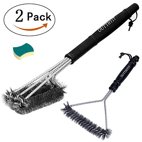 OUTTRYIT Grill Brushes, Set of 2 (18