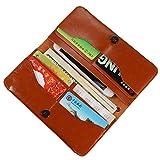 iPhone 7 Plus Wallet Case, Pajuva Leather Case for iPhone 7 Plus / iPhone 7 / iPhone 6S Plus / iPhone 6S / Samsung Galaxy S7 Edge / Note etc. (Brown)