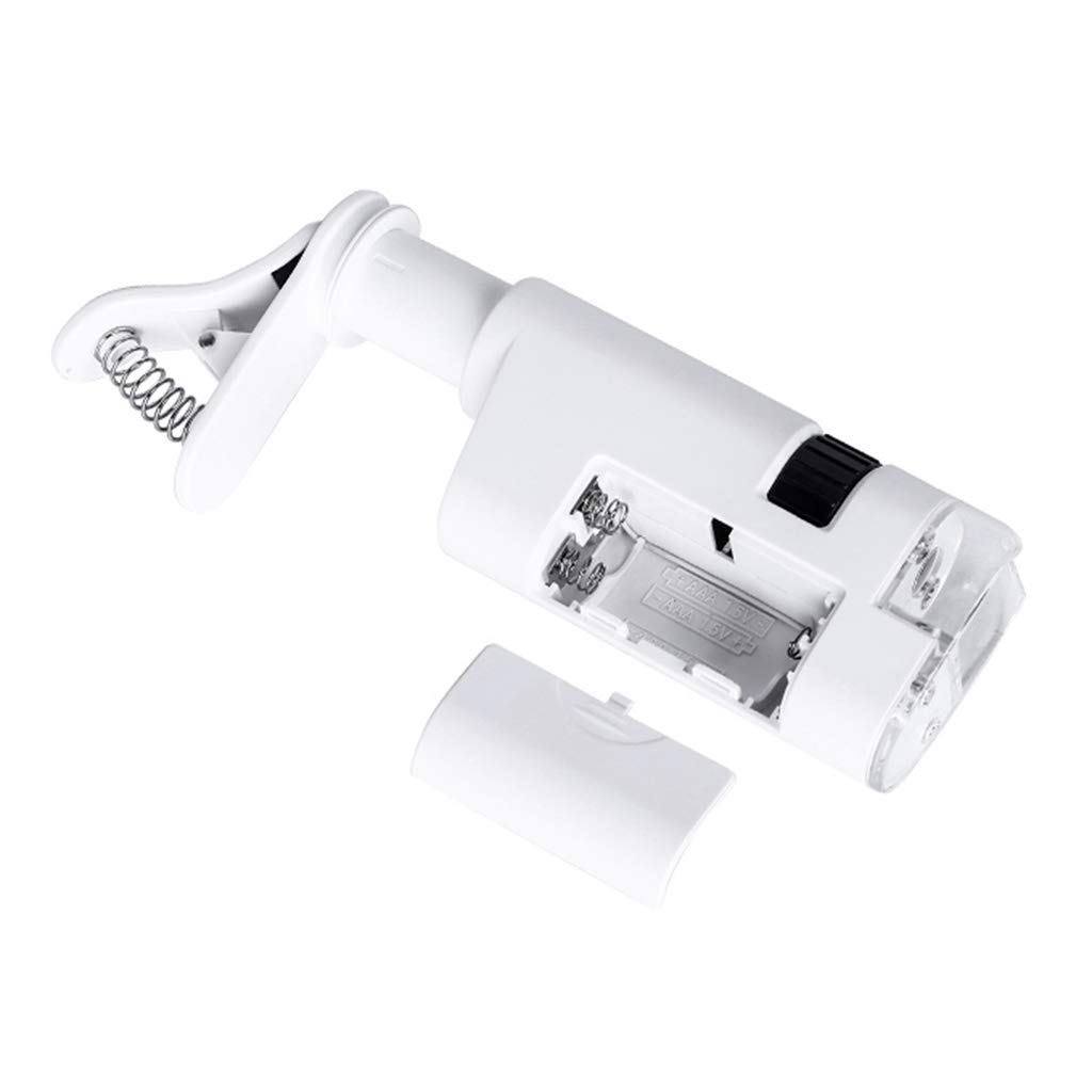 ESden 80-120X Microscopio LED L/ámpara Lupa Microscopios Textiles con Clip de Tel/éfono