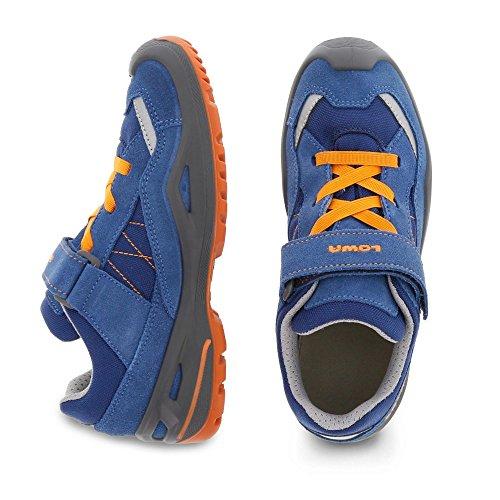 Lowa - Zapatillas de senderismo de Material Sintético para niño azul/naranja