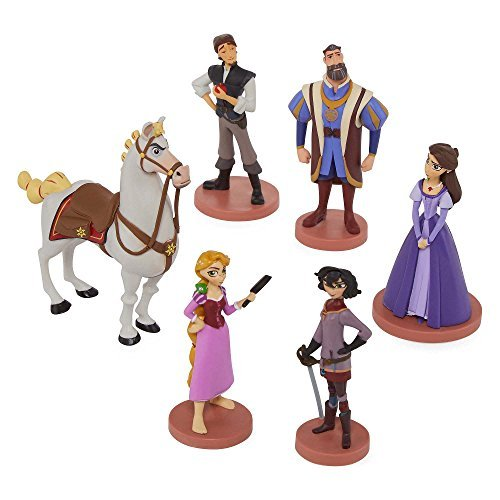 Disney Collection Tangled: The Series Rapunzel 6 piece Figurine Playset Figure Play Set or Cake Topper