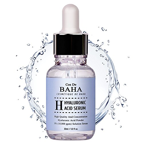 Collagen Intensive Anti Serum Wrinkle (Pure 100 Hyaluronic Acid Serum for Face by CosDeBAHA, Anti Aging Moisturizer, Natural Collagen Plumping Booster, Anti Wrinkle Formula! Drop of Youth, Increase Skin Hydration, Korean Skin Care, 1OZ)