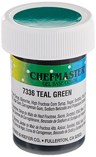 Chefmaster Gel Food Color, 1-Ounce, Teal by Chefmaster