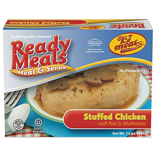 Ready Meals, Stuffed Chicken Breast with Rice and Mushrooms (Ready to Eat, Microwavable, Shelf Stable, No Refrigeration) – Gluten, Egg and Dairy Free - Glatt Kosher (12 ounce - Pack of 1)