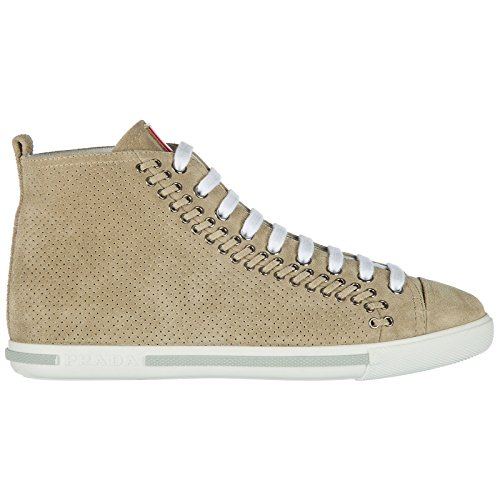 Daim Baskets Espadrilles En Chaussures Femmes Chaussures Haut Prada Femmes Beige x0Xq7