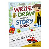 A4 Children's Write and Draw Your Own Story Book - 100 Sheets - Size 11.7' x 8.3'