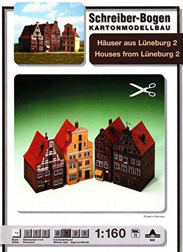 Aue Verlag 5 x 6 x 9 cm Houses from Lueneburg II Model Kit (4-Piece) for $<!--$7.80-->
