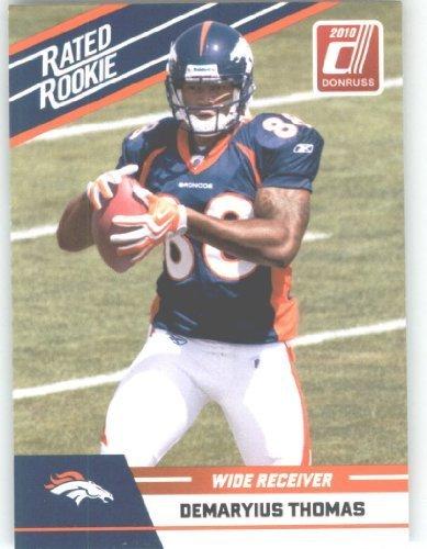 2010 Donruss Rated Rookies Football Card #27 Demaryius Thomas - Denver Broncos (RC - Rookie Card) NFL Trading Card