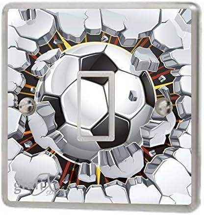 Vinilo para interruptores con diseño de balón de fútbol rompiendo ...