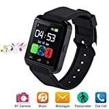 Bluetooth Smart Watch for Android iOS Smartphone, Letopro U8 Smartwatch with Pedometer Remote Camera Music Player Calls Reminder for Men Women Kids Children , Smart Wrist Watch with Touch Screen for iPhone Samsung Huawei (Black)