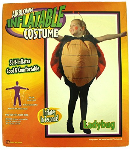 [Gemmy Airblown Inflatable Costume - Child Girls Ladybug] (Sit And Be Fit Costume)