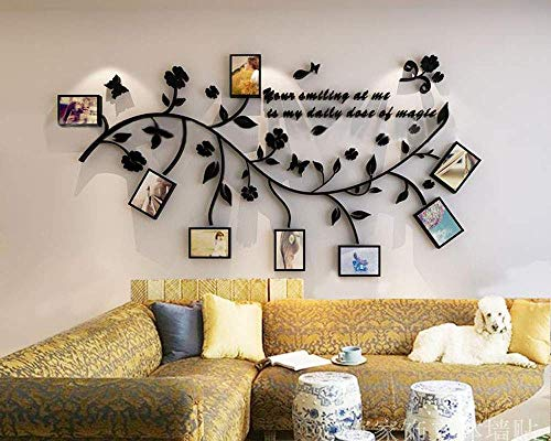 Family Tree Wall Decal. Peel & Stick Vinyl Sheet, Easy to Install & Apply History Decor Mural for Home, Bedroom Stencil Decoration. DIY Photo Gallery Frame Decor Sticker (B) by LECHEN (Image #2)