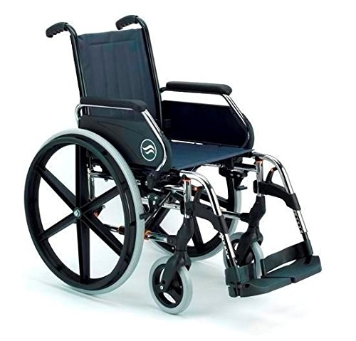 Silla de ruedas manual en acero plegable Breezy 250 asiento 40 cm: Amazon.es: Hogar