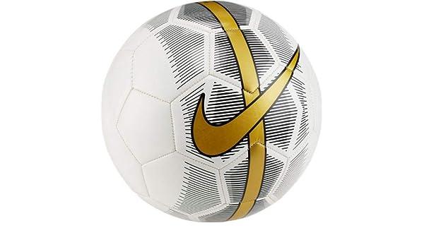 Nike Balón de fútbol Merc Fade en Piel Blanca Talla 5 SC3023-101 ...