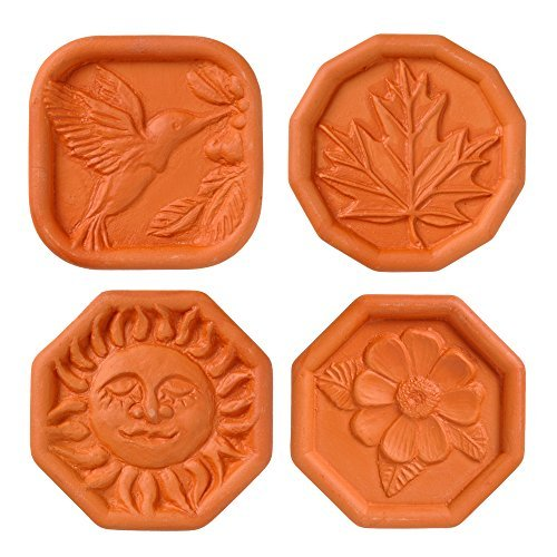 Brown Sugar Savers - Set of 4 - Hummingbird, Maple Leaf, Sun, and Daisy designs by JBK Pottery