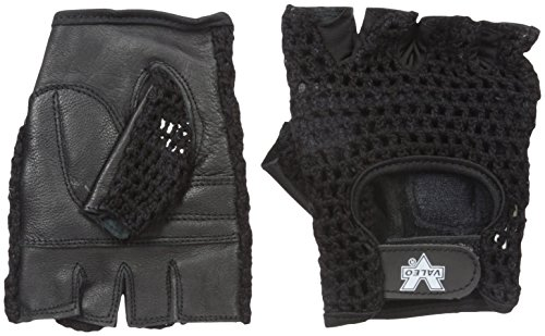 Valeo GMLS Meshback Lifting Gloves With Genuine Leather Padded Palms, Cotton Mesh Backs, And Soft Terry Lining, (Mesh Terry Gloves)